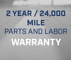 2 year/24,000 mile parts and labor warranty